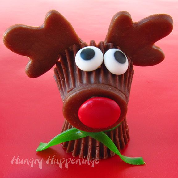 Hungry Happenings: Resee's Cup Rudolph the Red Nose Reindeer Treats for Christmas