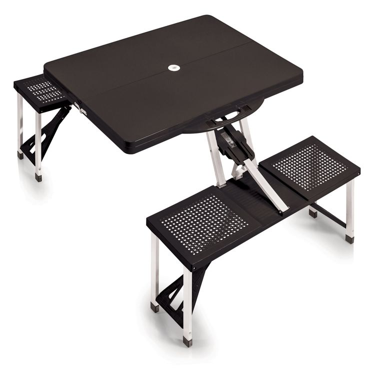 Picnic Time's portable Picnic Table Sport is a compact fold-out table with bench seats for four that you can take anywhere!