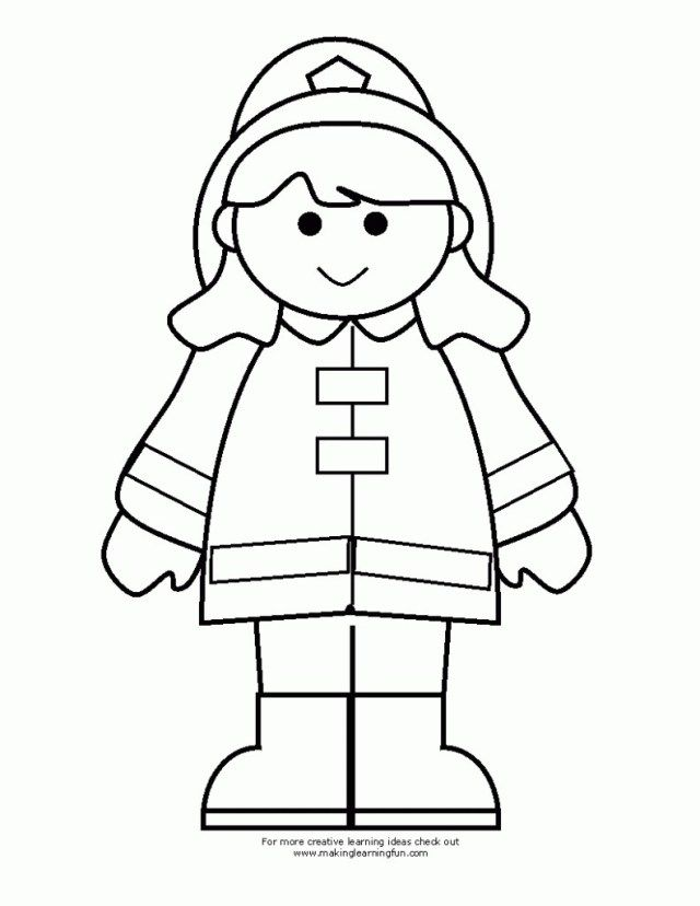 23 Great Picture Of Firefighter Coloring Pages Birijus Com Firefighter Clipart Fireman Crafts Fire Fighters Preschool