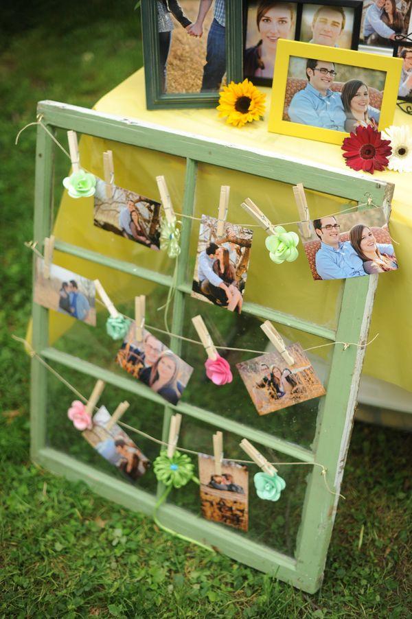 DIY wedding picture display idea