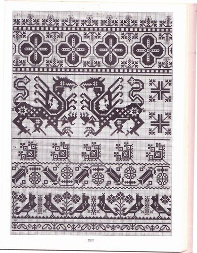 folk motifs Charts | Charted Peasant designs From Saxon Transylvania Book 1977- 10 ...