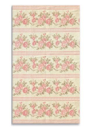 Pink Roses And Striped Pattern Rug Katherine Bedroom