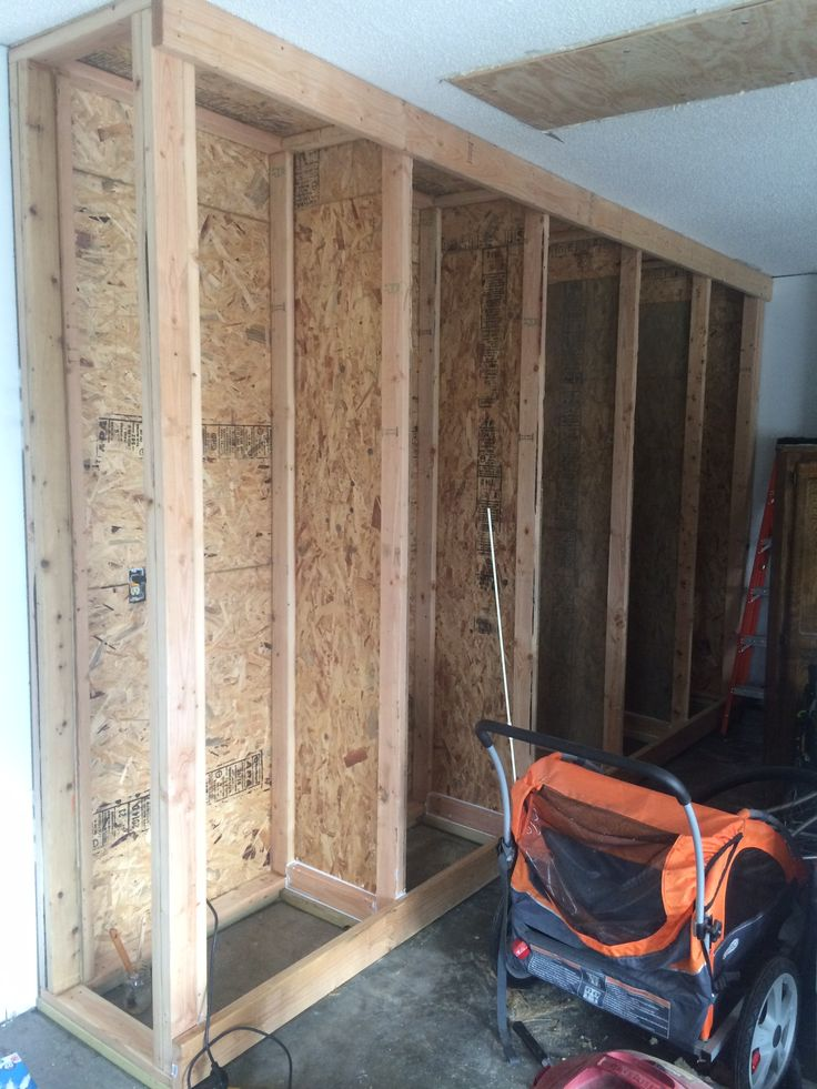 how to make your own DIY Garage Storage Cabinets - great organization solution!