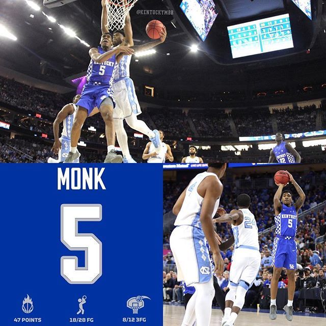 Monk tied Dan Issel for the sixth best single-game scoring performance in school history.