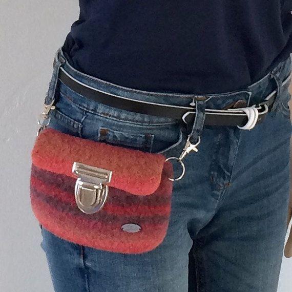 Kleine Hüfttasche im Boho-Stil Accessoires von meiTaschi auf Etsy