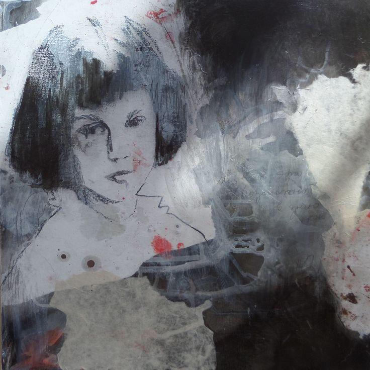 Irina Schuvaloff, Childhood`s wonderland, 2016, mixed media on MDF-board, 50 cm x 50 cm