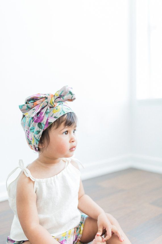 Watercolor Floral Head Wrap Very gorgeous head wrap made of antique flower print cotton fabric Our head wraps are longer than normal size, You can