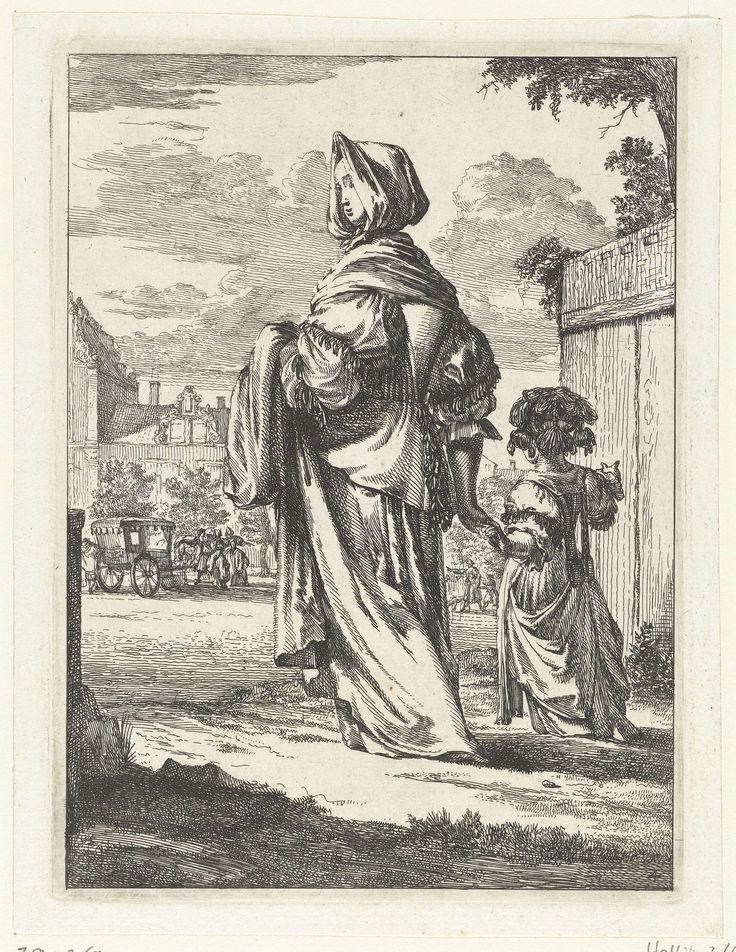 J.L. Lacoste | Portret van Johanna Cornelia Wattier als Agrippina, J.L. Lacoste, 1852 - 1869 | Portret van Johanna Cornelia Wattier als Agrippina. Ze zit op een troon met achter haar twee mannen. In de ondermarge haar naam.