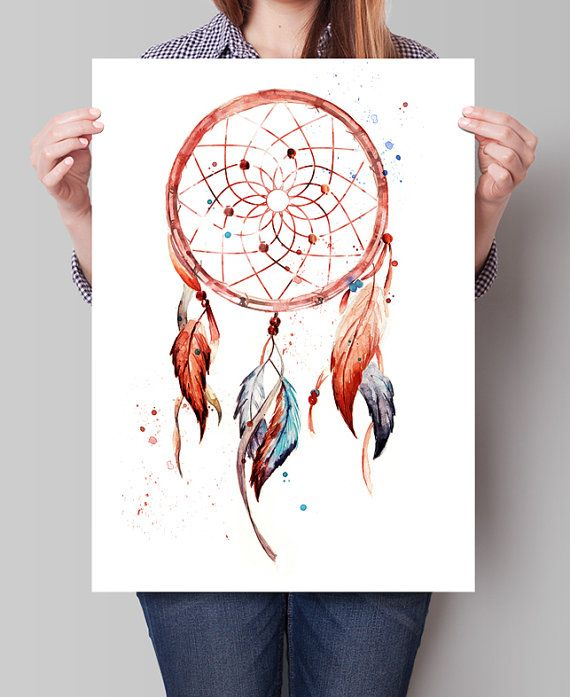 Dreamcatcher Dreamcatcher Print Watercolor by FineArtCenter
