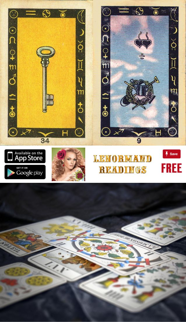 Get the free mobile app on your iOS and Android device and have fun lenormand reading, stork lenormand and list of tarot card combinations meanings, lenormand card meanings pdf and best lenormand deck for beginners.