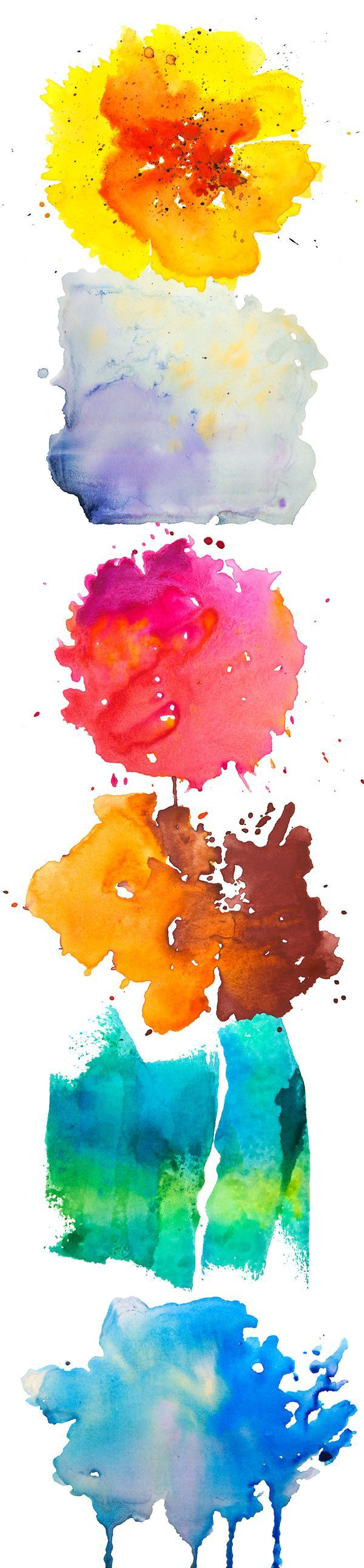 You're looking for Free Watercolor Textures to add some splashy details to your designs? Today we bring you a set of 6 free watercolor textures in vibrant hues.