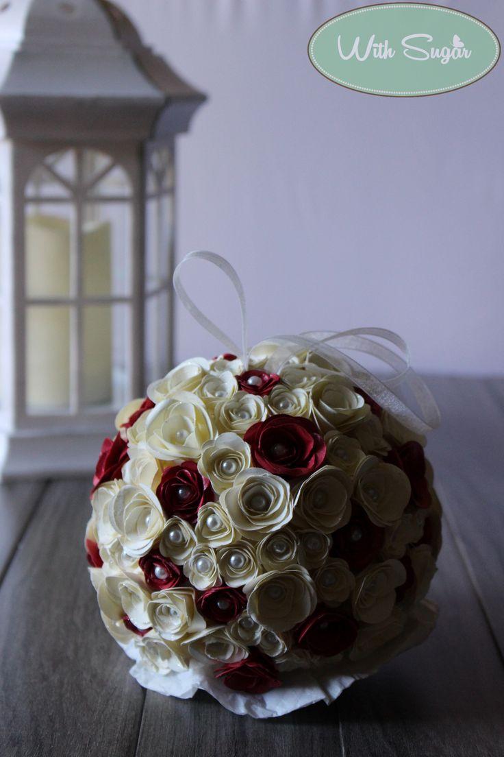 Sfera di Rose di Carta - Handmade Flowers
