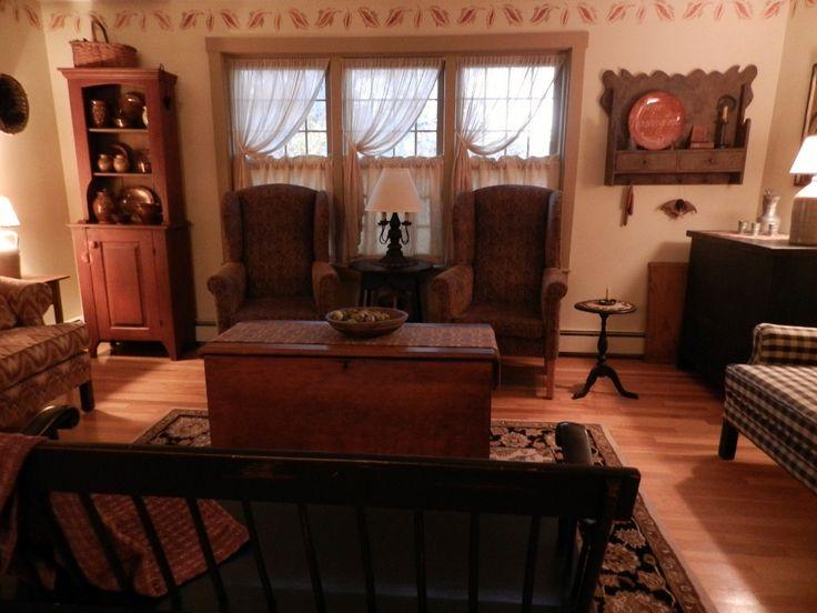 202 best images about primitive livingroom on pinterest primitive decor country primitive and - Primitive curtains for living room ...
