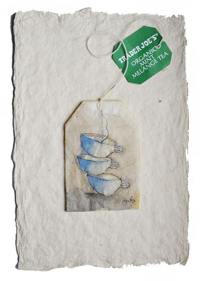 Painted tea bags www.rubysilvious.com