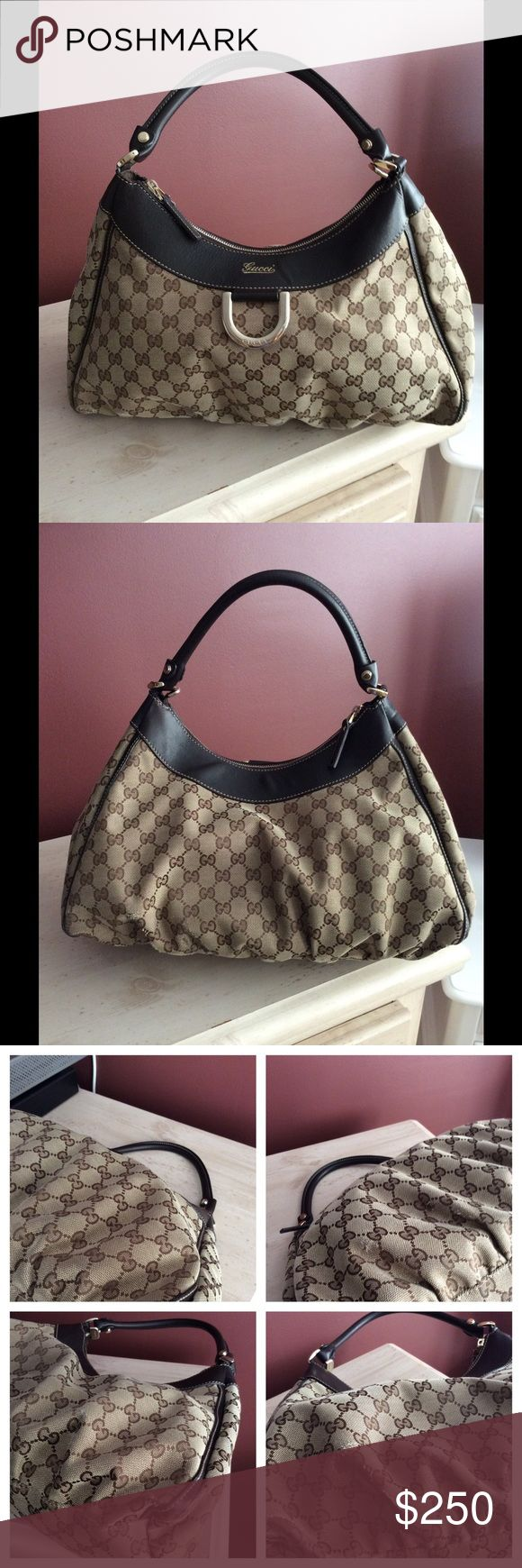 Gucci horsebit shoulder bag 100% Authentic Great bag. Bought in London so receipt reflects price in pounds. I used it a lot and the pics show the wear. Still think it can find a new home and be loved as I loved it. Will throw in the original dust bag. Price reflects the wear. Inside is super clean. Gucci Bags Shoulder Bags