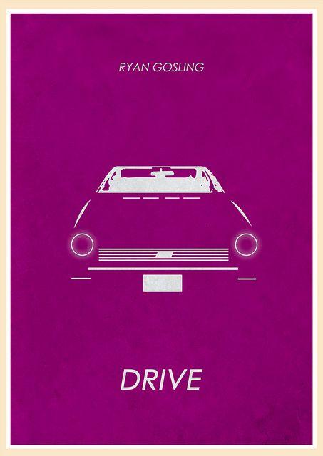 Drive (2011) - Minimal Movie Poster by Jon Glanville ~ #jonglanville #minimalmovieposters #alternativemovieposters