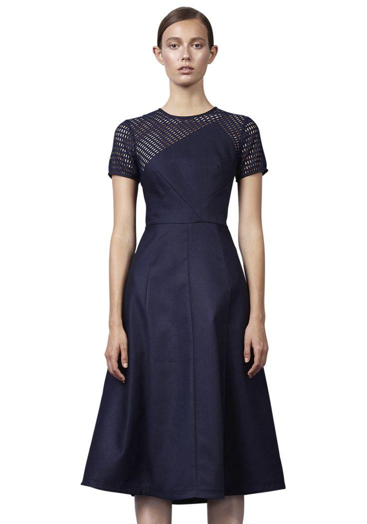 MESH ANGLE PANEL DRESS | #FRAMEWORK #BYJOHNNY #WINTER2016 #AUSTRALIANFASHION