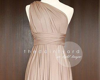 Olive demoiselle d'honneur robe robe Convertible par thedaintyard
