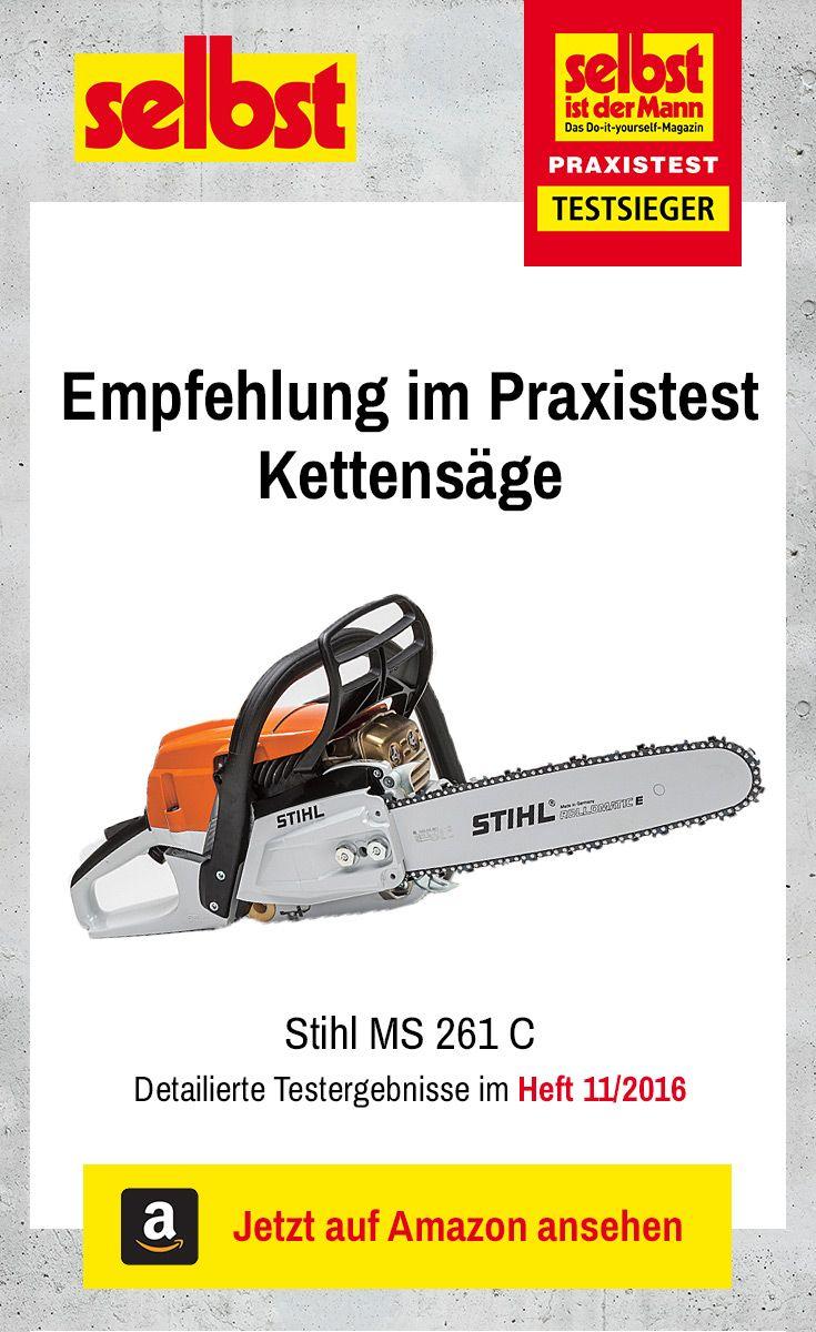 Die Stihl MS 261 C ist der Testsieger im Praxistest Kettensäge: Wir haben sieben Motorsägen getestet.