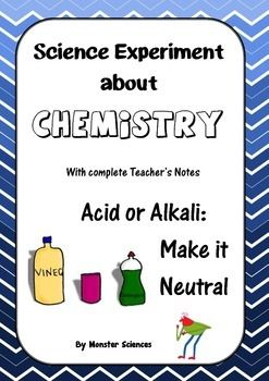 Science Experiment about Chemistry - Acid or Alkali:  Make