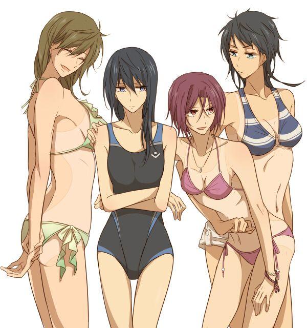 Swim tan girls lines team