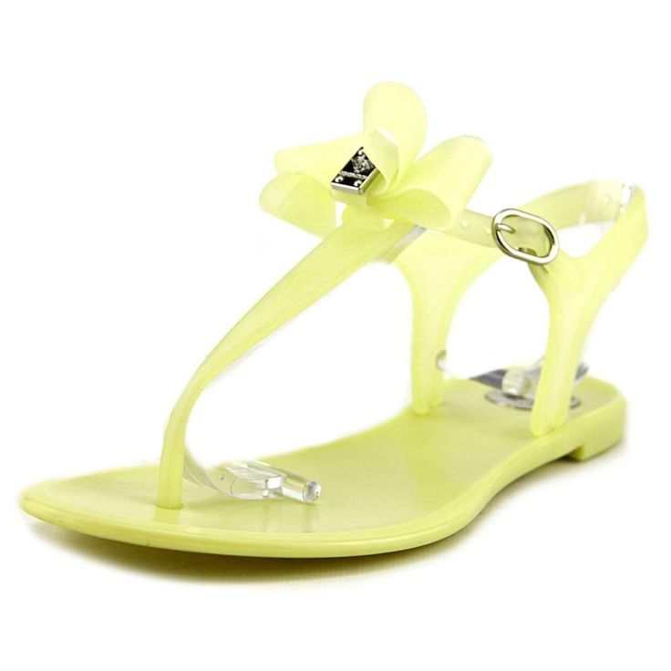 "BCBGeneration Women's BG Delight Jelly Sandal, Bright Lime, 7 M US. The style name / style number is Delight / DELIGHT-BRTLIM. Color: Bright Lime. Material: Synthetic. Measurements: 0.5"" heel. Width: B(M)."