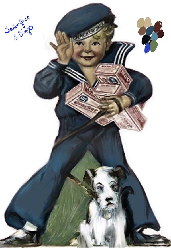Sailor Jack and Bingo. Cracker Jacks and the surprise inside ... a good prize too ... for kids back in those days.