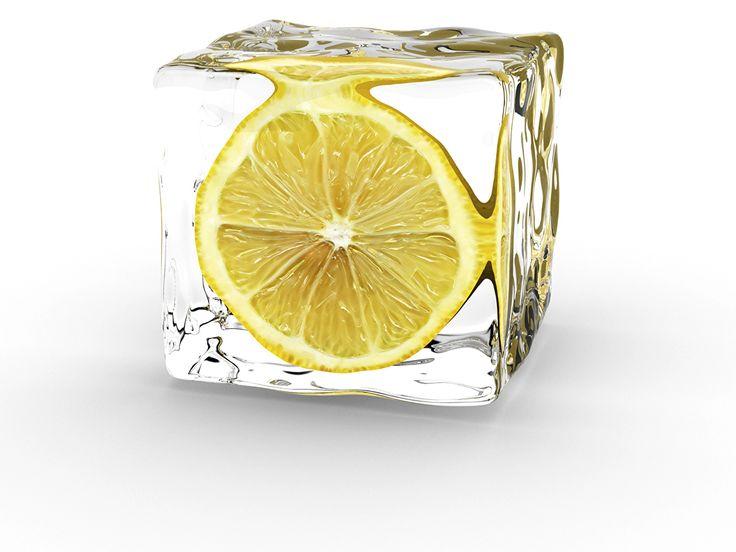 Лимоны Лед, Белый фон, Пища, Продукты Еда