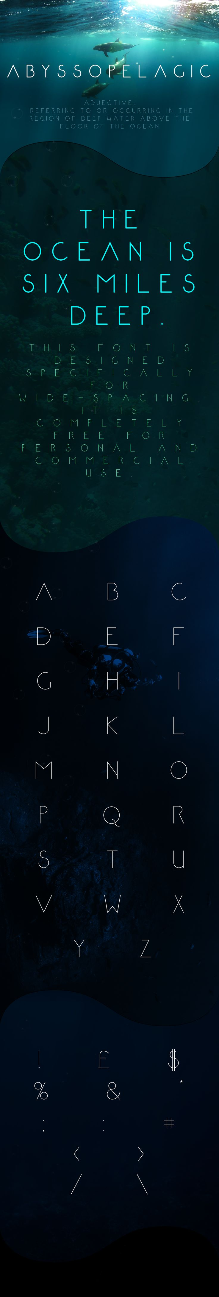Abyssopelagic - free Personal & Commercial font on Behance