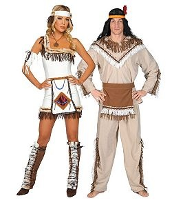 Sexy Indian Chief | Cheap Couples Halloween Costume for Women