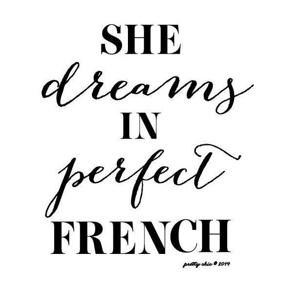 She Dreams In Perfect French