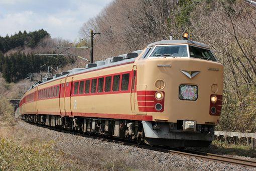 4月5日、福島DCキャンペーンの一環として、臨時急行〈ふくしま観光キャンペーン号〉が上野~福島間で片道のみ運転された。車両は仙台車両センター所属485系A1+A2編成が使用され、前面には特製ヘッドマークが掲げられた。 /東北本線 豊原―白坂 26.04.05 Hiroshima Kazuki.jpg