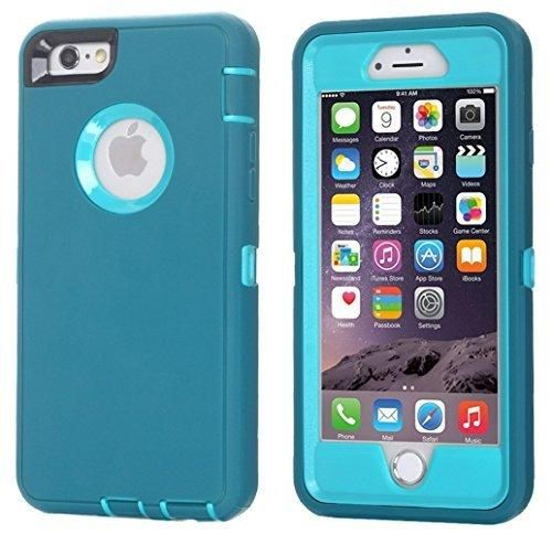 Ai-case Built-in Screen Protector Tough 4 in1 Rugged Shorkproof Cover With Kickstand for iPhone 6/6S Plus Blue(Without Kickstand)