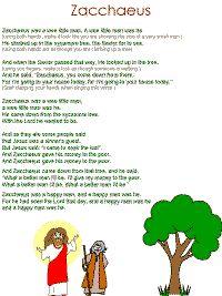 Zacchaeus song