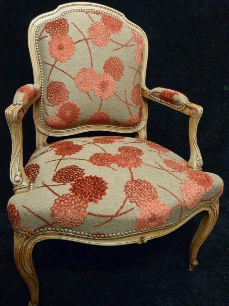 tissu casal zinnia fauteuil louis philippe 90E