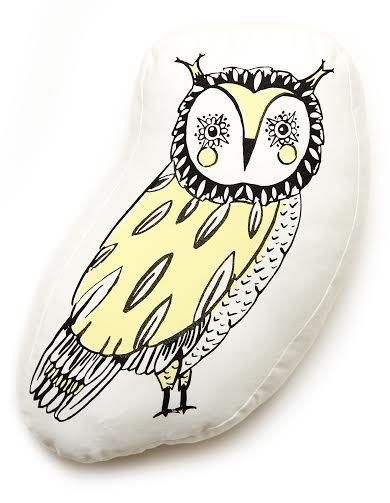 Woodlands Owl Scatter Cushion Cover   Screen-printed on cotton   2 in stock
