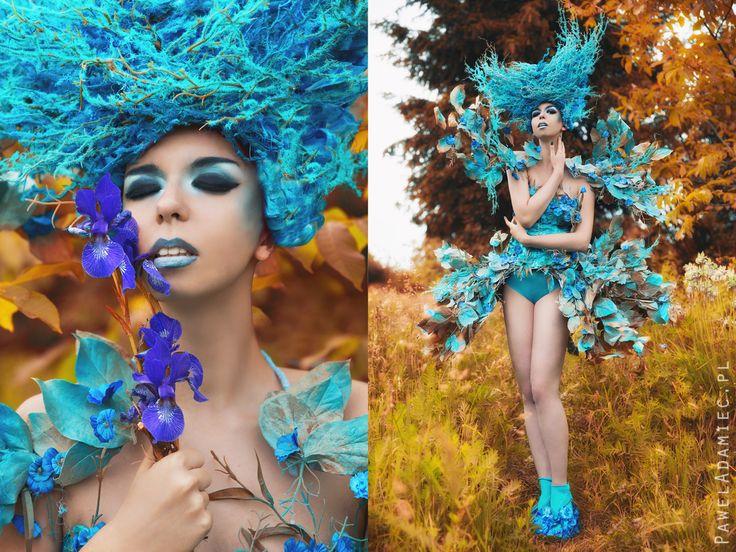 Model: Milena Corleone https://www.facebook.com/milena.corleone.studio Photographer, Make Up Artist, Designer: Paweł TOTORO Adamiec  #model #blue #flowers #photoshoot #costume #design #designer #movie #characterization #photography #costumedesign #fashion #milenacorleone #art #print #french #leflotteur #flotteur #beauty #commercial #look #topmodel #artphotography #artvision #concept #opheliaoverdose #costumemaker #performance #show #monster #alternative #ladygaga