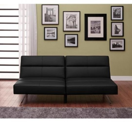 Guest Beds And Folding Futons For Sale Convertible Sofa Bed Chaise Lounge Black #DorelHomeProducts