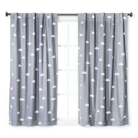 Jude's room Cloud Print Twill Light Blocking Curtain Panel - Pillowfort™ : Target