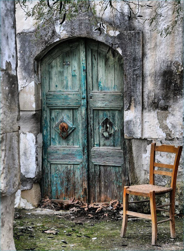 A guard once sat upon this chair, a guard with muscles to fear One day he peeked behind the door, and now he is no longer here
