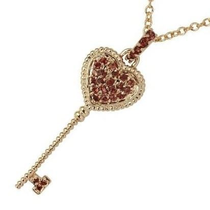 Golden Key Pendant Necklace made with SWAROVSKI Elements AU$64.50 | Free Delivery* at Red Wrappings