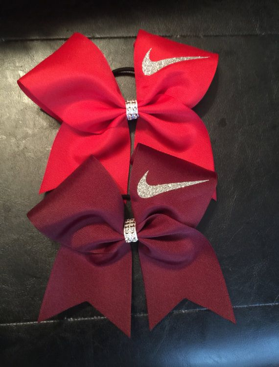 Nike Swoosh Cheer bow MANY COLORSRed neon by CreativelyGlamorous