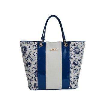 Καθημερινή τσάντα μπλε-άσπρη