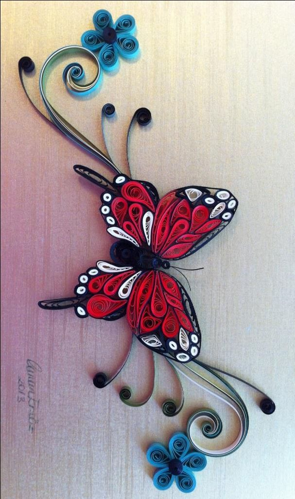 Quilling - Monarch butterfly by Canan Ersöz