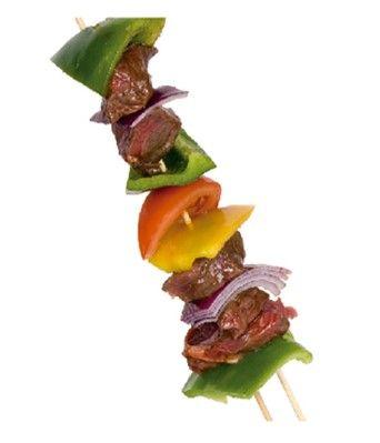 EVITA QUE TUS PINCHOS QUEDEN POR TODA LA PARRILLA: Usa dos pinchos y así aseguras la estabilidad en el grill y la cocción por ambos lados del alimento.