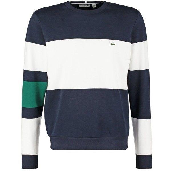 Lacoste Sweatshirt navy blue ($170) ❤ liked on Polyvore featuring tops, hoodies, sweatshirts, navy top, lacoste, navy blue tops, lacoste sweatshirt and navy sweatshirt