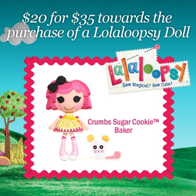 $20 for a Lalaloopsy Doll  Sew fun and great as a gift for a little girl!  http://www.kuklamoo.com/offers/view/lalaloopsydoll