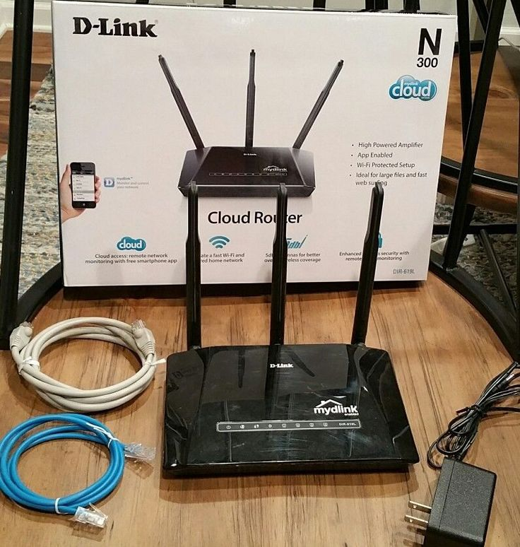 D-Link DIR-619L Wireless N 300Mbps 4-Port Cloud Router wi-fi certified N-300 box #DLink