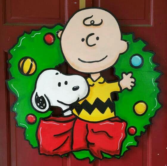 Charlie Brown And Snoopy Door Hanger Door Wreaths
