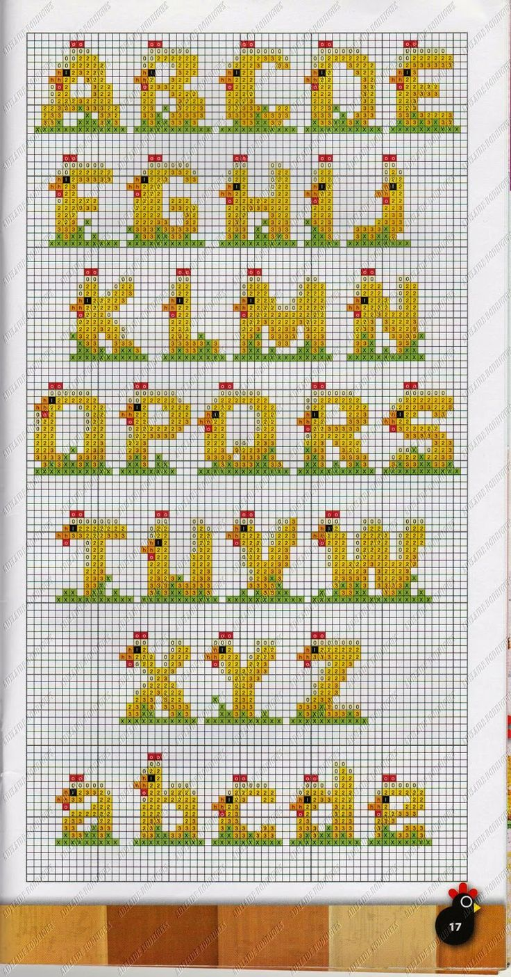 Easter alphabet perler bead pattern